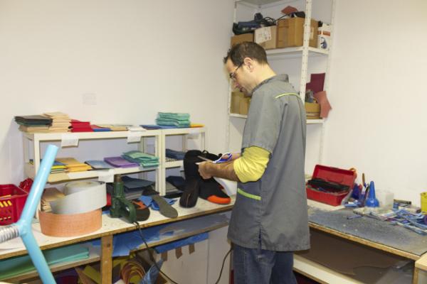 Préparation du chausson Palau